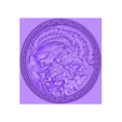 circularPhoenix.stl Download free STL file phoenix 3d model of bas-relief • 3D print template, stlfilesfree