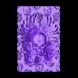 skullAndRoses.stl Download free STL file skull and rose • 3D printing design, stlfilesfree