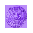 TigerHeadRRR.stl Download free STL file tiger head • 3D printable template, stlfilesfree