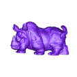 rhinoceros.stl Download free STL file rhinoceros sculpture • 3D print object, stlfilesfree