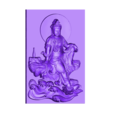 guanyinOnRocks.stl Download free STL file guanyin on rocks • Template to 3D print, stlfilesfree