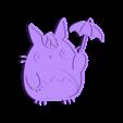 Totoro_v2.stl Download free STL file Totoro Pin • Template to 3D print, Giara