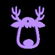 1 renna.stl Download STL file XMAS REINDEER • 3D print object, Lally