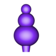 snowman.stl Download free STL file Test tube christmas plug decoration • Template to 3D print, kleinerELM