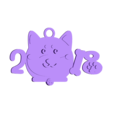 2018-dog03.stl Download free STL file 2018 HAPPY CHINESE NEW YEAR-YEAR OF The Dog Keychain / Magnets • 3D printing design, mingshiuan