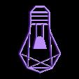 customized_origami_light_bulb.stl Download free STL file Customizable Origami Light Bulb • 3D printing design, MightyNozzle