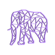 Elephant geometry.stl Download free STL file Elephant origami • 3D printable template, Jean-Donald