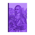 mona_lisa_lito.stl Download free STL file mona lisa LITHOPHANE • Model to 3D print, 3dlito