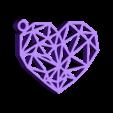 Geometric Heart Key Ring.stl Download free STL file Geometric Heart Key Ring • 3D print model, Cancore_3D