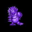 Riccio_ricci v10.stl Download free STL file Rugby player hedgehog • 3D print design, Stenoxp