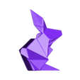 rabbitpen.OBJ Download OBJ file Origami Rabbit Pendant • 3D printer design, Merve