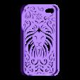 Lion Floral 4 4s.stl Download STL file Tribal Lion Floral Iphone Case 4 4s • 3D printable object, Custom3DPrinting