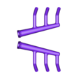 09FR-EXHAUST.stl Download STL file Ratrod Pickup • 3D printing template, macone1