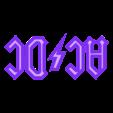 04-logo_transparent.STL Download STL file AC/DC led lamp #3dprintRocks • 3D printing model, irunea3dprint