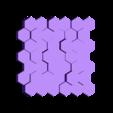 plaque murale octo.stl Download free STL file exagonal decorative wall plate • 3D printer template, juanpix