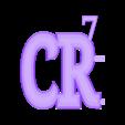 CR72.stl Télécharger fichier STL gratuit cadre dessin 3D Cristiano Ronaldo CR7 • Modèle à imprimer en 3D, 3dlito