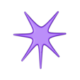 Space Decals_ Star D.stl Download free STL file Space Decals • 3D printing template, Hom3d