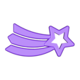 Space Decals_ Shooting Star.stl Download free STL file Space Decals • 3D printing template, Hom3d