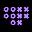 Tic-Tac-Toe Pieces.stl Download free STL file Tic-Tac-Toe • Template to 3D print, FerryTeacher