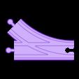 Right Split Track.stl Download free STL file Toy Train Tracks • 3D printer design, FerryTeacher