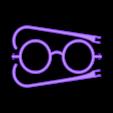 Snowman Spectacles.stl Download free STL file Snowman Decorating Kit • 3D printable model, FerryTeacher
