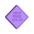 Road Work Ahead Sign.stl Download free STL file Road Signs • 3D printable object, Emiliano_Brignito