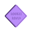 Rough Road Sign.stl Download free STL file Road Signs • 3D printable object, Emiliano_Brignito