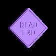 Dead End Sign.stl Download free STL file Traffic Road Signs • 3D printable template, Emiliano_Brignito