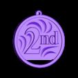 Second Place.stl Download free STL file Winner's Medals • 3D printer template, Emiliano_Brignito