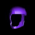 Back Half.stl Download STL file Deathstroke Injustice Helmet • 3D printable model, VillainousPropShop