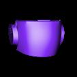 Back Panel.stl Download STL file Deathstroke Injustice Helmet • 3D printable model, VillainousPropShop