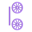 wheels.stl Download free STL file Sweet Cart Christmas Ornament • 3D printable design, wjordan819