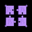 puzzle b.stl Download STL file puzzle key ring • 3D printing design, catf3d