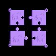 puzzle cheval.stl Download STL file puzzle key ring • 3D printing design, catf3d