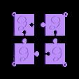 puzzle g.stl Download STL file puzzle key ring • 3D printing design, catf3d