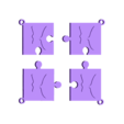 puzzle h.stl Download STL file puzzle key ring • 3D printing design, catf3d