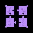 puzzle hyppocampe.stl Download STL file puzzle key ring • 3D printing design, catf3d