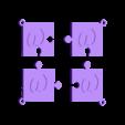 puzzle w.stl Download STL file puzzle key ring • 3D printing design, catf3d