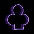 trefle.stl Download free OBJ file heart-tile-clover-pique • 3D printer object, nitrog