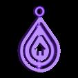 vizcsepp4.stl Download free STL file Rotating Keychain - Raindrop shape • 3D print design, simiboy