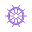WHEEL-x2-New.stl Download STL file Ship's Wheel • 3D printer template, pumpkinhead3d