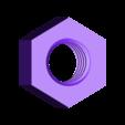 M5x0.8_nut.STL Télécharger fichier STL gratuit Écrou et boulon métriques les plus courants - M2 à M20 • Plan pour impression 3D, TheTNR