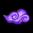 Cloud_004.stl Download STL file Asian Cloud n°4 • 3D printer template, LeKid