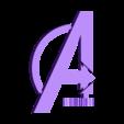 A, Avengers Logo.STL Download free STL file Avengers Rotating Logo • 3D printing template, potentprintables