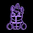 bebe unicornio12cm.stl Download STL file unicorn cookie cutter unicorns • 3D print model, PatricioVazquez
