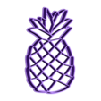 Anana10cm.stl Download STL file beach cookie cutters pack surf pineapple flamingo • Design to 3D print, PatricioVazquez