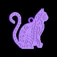 llavero_gato.stl Download free STL file Cat key ring • 3D print design, 3dlito