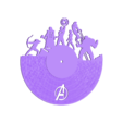 avengers clock(3).stl Download free STL file avengers clock • 3D print object, FranciscoMontoya