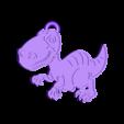 dino5.stl Télécharger fichier STL gratuit Porte-clés Dino • Objet à imprimer en 3D, 3dlito