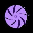 Part-Teil 03 Impeller - Laufrad.stl Download free STL file BBQ Fan Extension for Gearbox 256 / Grillgebläse Erweiterung für Getriebe 256 • 3D print design, CONSTRUCTeR